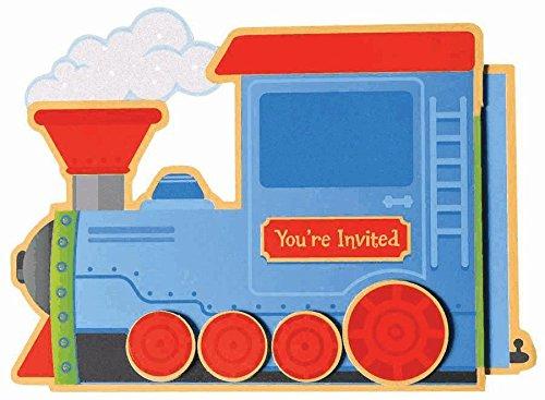 Amscan First Birthday Large Novelty Invitation - Choo Choo
