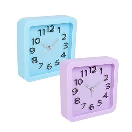 5bd7ac7ce Buy Tuelip Set of 2 Analog Square Shape Table Clock