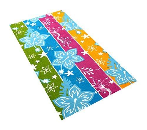 BolBomS Printed Beach Towels 100% Cotton, Blue Floral, 6 Piece [並行輸入品] B07RDFRQWC