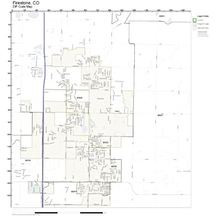 Amazon Com Zip Code Wall Map Of Firestone Co Zip Code Map Not
