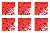 Beistle SCN133AZ6 Confetti Party, Red
