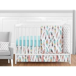 Feather Woodland Baby Girls 11 Piece Crib Bedding Set without Bumper