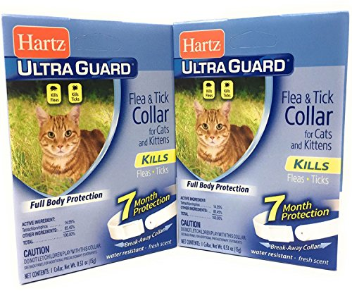 Flea Tick Collar for Cats and Kittens 2 Pack Water Resistant 7 Months Full Body Protection