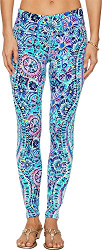 Lilly Pulitzer Women's Upf 50+ Weekender Legging, Multi The Swim, XL by Lilly Pulitzer