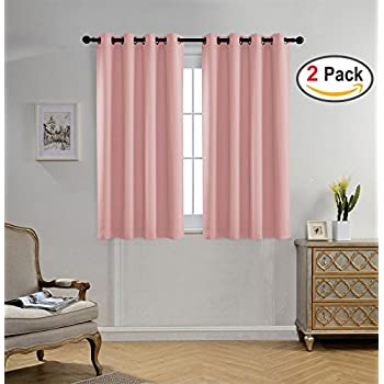 Amazon.com: NICETOWN Blackout Curtains for Girls Room - Thermal ...