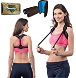Back Posture Corrector for Women & Men + Double Detachable Pads - Effective and Comfortable Posture Brace for Slouching & Hunching - Discreet Design - Clavicle Support Brace (28'-50')