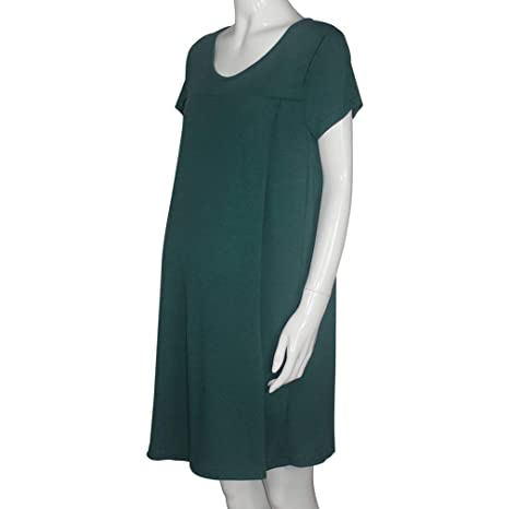 Juleya Mangas Cortas Vestidos de Maternidad Ropa de enfermería para Mujeres Embarazadas Ropa de Dormir Lactancia Materna Pijamas de Maternidad Embarazadas: ...