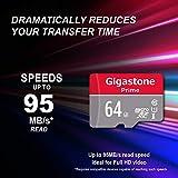 Gigastone 64GB 5-Pack Micro SD Card, Camera