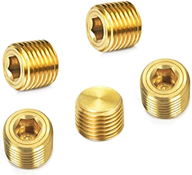 Anderson Metals Brass Threaded Pipe Fitting 2 Male Countersunk Plug with Square Drive
