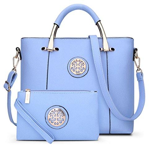 (Beautyfronta 2 Bags/Set Women Tote Bag Brand Designer Women Messenger Shoulder Bags Handbag)