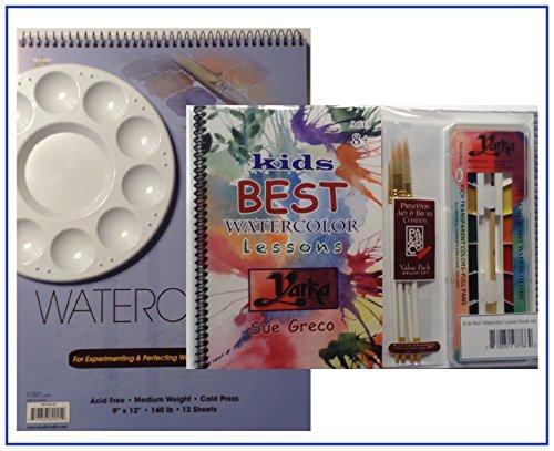 Kids Best Watercolor Lessons Book-Set