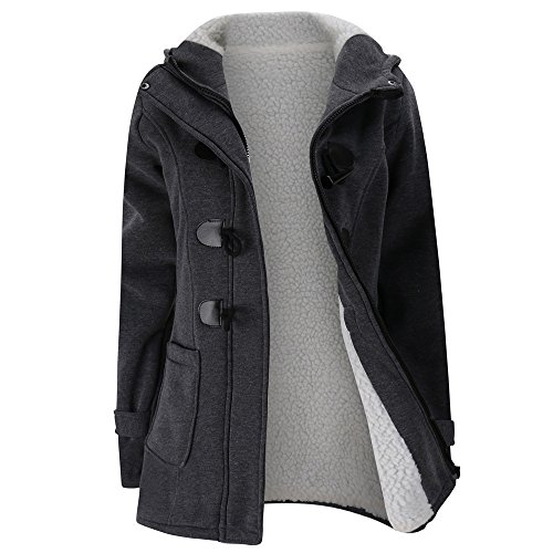Dark Warm Sonnena Slim Women Warm Coat Long Keep Trench Wool Outwear Jacket Gray Windbreaker qxwR7Xa