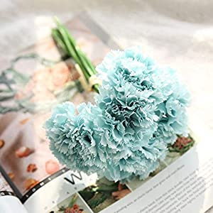 AKIMPE Artificial Fake Flower Faux Greenery DIY Decorations Forever Petals Long Stem Vine Preserved Gift for Wedding Party Home Birthday Garden Her Women 6 Pieces Multicolor 7 2