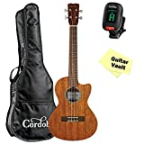 Cordoba 20TM-CE Tenor Acoustic Electric Ukulele with Cordoba Gig Bag, Cordoba Tuner and Polishing Cloth