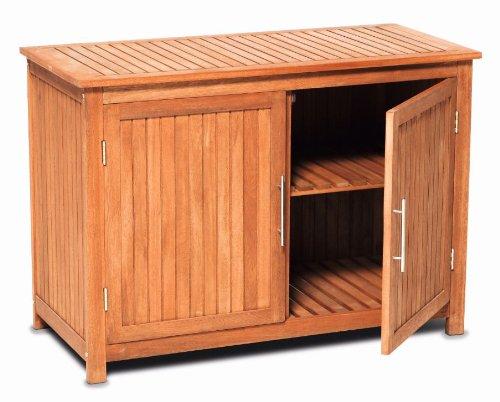 Kommode / Konsolenschrank / Schrank aus Eukalyptus Holz, Innen +