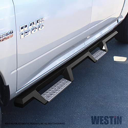Westin Nerf Bars Dodge Ram - Westin 56-135652 Textured Black Nerf Step Bar (HDX Stainless Drop for Dodge/Ram 1500 2009-2018 25/3500 Crew (Excl Cab Chassis w/Def Tanks) 2010-2018)