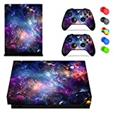 Cheap Feicuan Skin Sticker Wrap Set for Xbox One X (X1X) Console and Controllers Skin Vinyl Sticker Decal , with 10pcs Silicone Thumb Grips