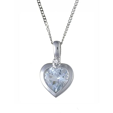 Ivy gems 9ct white gold aquamarine and diamond heart rubover pendant ivy gems 9ct white gold aquamarine and diamond heart rubover pendant on 46cm curb chain amazon jewellery aloadofball Gallery