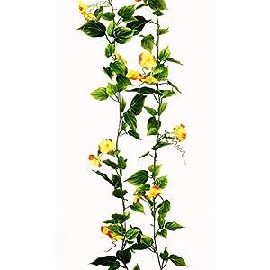 Yatim 2PCS(13FT) Artificial Flowers Ivy Vines Leaf Garland Plants for Hotel Wedding Arch Home Party Garden Craft Art Decor Sunred 1