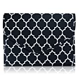 Brelox TRAVEL JEWELRY ORGANIZER CASE BAG HOLDER - JEWELRY STORAGE CARRYING CASES FOR EARRINGS, NECKLACES, RINGS, BRACELETS - FREE POLISHING CLOTH INCLUDED (Black/white)