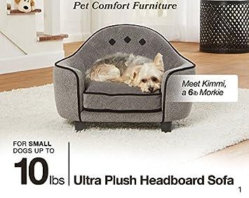 Enchanted Home Pet Ultra Plush Headboard Bed