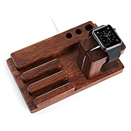 Apple Watch Stand, Aerb Rosewood Charge Dock Holder for Apple Watch , Docking Station Cradle Bracket for iPod iPhone iPad and Other Phones Tablets