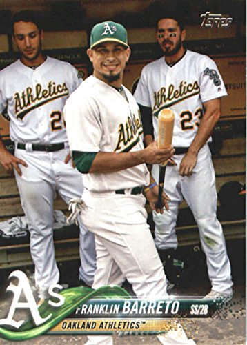 624 Series - 2018 Topps Series 2#624 Franklin Barreto Oakland Athletics Baseball Card - GOTBASEBALLCARDS