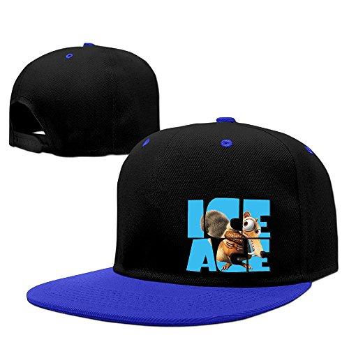 ^GinaR^ 140g Ice Age Collision Course Adjustable Cotton Adjustable Baseball Hats Sun Visors - RoyalBlue