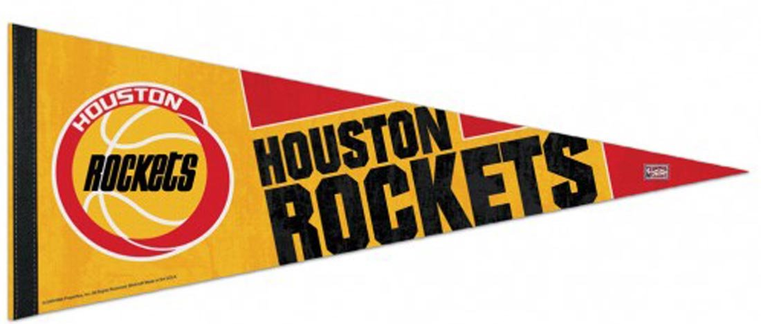 WinCraft Houston Rockets Premium Hardwood Classics Pennant 12 x 30 Inches