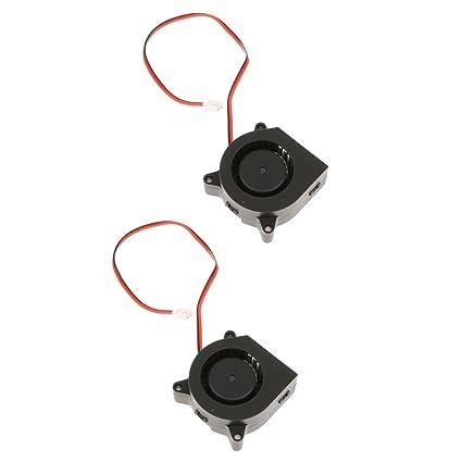 Sharplace 2pcs Piezas de Impresión 3D Accesorios Ventilador Turbo 40 20 soplador 12V Cuadrado de Plàstico