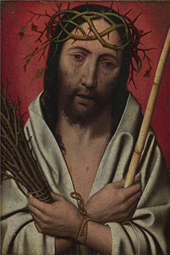 Mailwraps Cat - High Quality Polyster Canvas ,the Replica Art DecorativePrints On Canvas Of Oil Painting 'Style Of Jan Mostaert Christ Crowned With Thorns ', 30 X 45 Inch / 76 X 115 Cm Is Best For Living Room Gallery Art And Home Decor And Gifts
