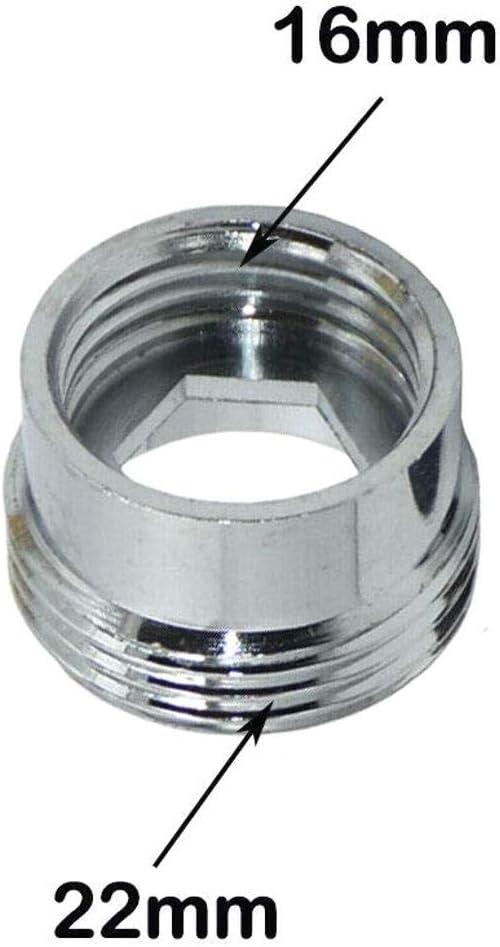 COMEYOU Adaptador de Grifo 2PCS Conector de Grifo de Cocina Metal s/ólido para purificador de Agua 24 mm Hembra a 22 mm Macho