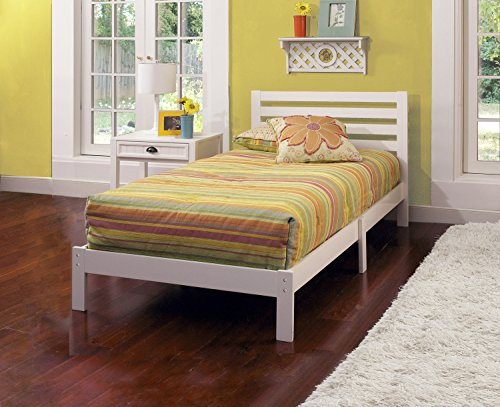 Hillsdale 1723-330 Aiden Twin Bed Set, 35.25'' H x 42.25'' W x 77'' D, White by Hillsdale