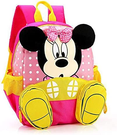 Cute Kindergarten Boys Girls Mickey Mouse Baby Kids School Book Bags Backpacks