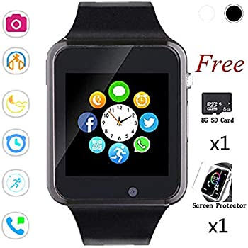 Smart Watches,Bluetooth Touch Screen Watch Phone for Android iPhone Pedometer Smartwatch Sport Wrist Watch Compatible Samsung iOS Men Women