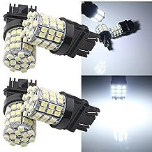 Grandview 4pcs White 3157 1210 54-SMD 800 Lumens Super Bright LED Bulb T25 T-25 3047 3057 3057A 3155 3157 3157A 3157NA LED Bulbs Back Up Reverse Lights Brake Lights Tail Lights