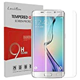 Lanhiem Galaxy S6 Edge Plus Screen Protector, [Full Coverage] Case Friendly Easy Installation Tempered Glass HD Screen Protector Film (3D Curved Edges, 9H Hardness, Anti-Fingerprint) -Clear