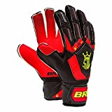 Brine King Match 3X Goalkeeper Gloves (Red/Black/White, 7)