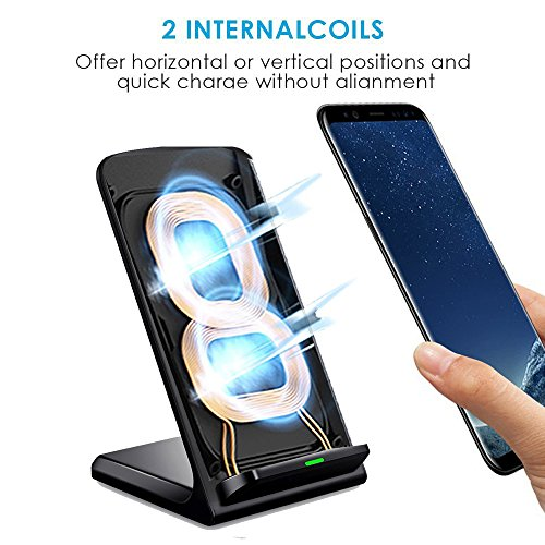 (10W Fast)Qi Wireless Charger iPhone X/8/8 Plus Wireless Charger for Samsung Galaxy S9/9+/S8/S8 Plus