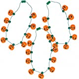 JOYIN 3 Pack Halloween Pumpkin Jack O Lantern Necklace LED Lightup Halloween Party Favors (3 Pieces Pack)