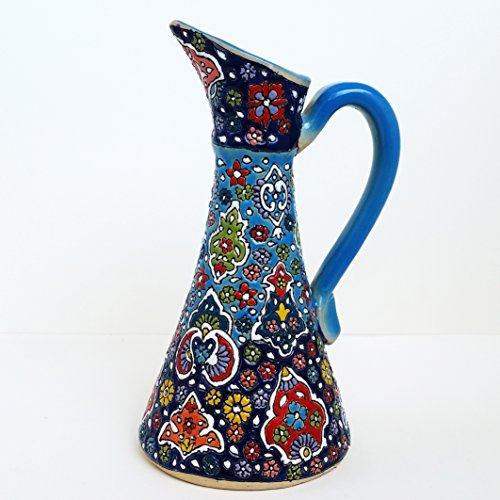 ArioCraft Handmade Decorative Ceramic Pitcher, Pottery Home Decor by ArioCraft