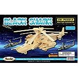 Puzzled Black Shark Wooden 3D Puzzle Construction Kit