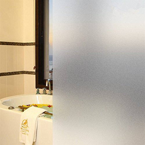 New Lifetree No-glue Vinyl Privacy Window Film Frosted Window Film Decorative Window Film Stained Glass Refraction Static Window Film (White,35.4by78.7Inch) - Glass Tint Left