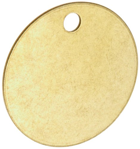 Brady Blank Valve Tags - Round Brass Tags, 1-1/2'' Diameter, B-907 (Pack Of 25) - 23210 by Brady