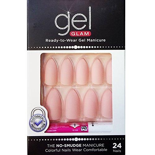 (Kiss Gold Finger Gel Glam 24 Nails GFC11 PINK (2 Pack))