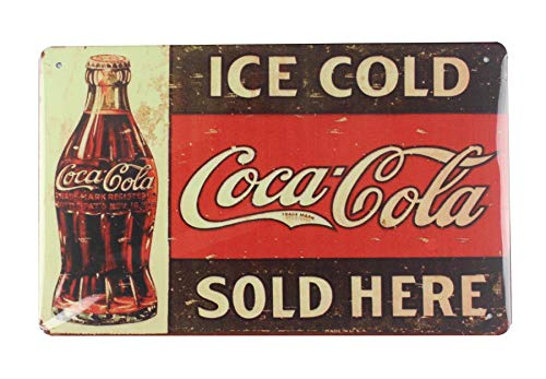 (WholesaleSarong Ice Cold Coca Cola tin Metal Sign Interior Decoration Metal Motorcycle)
