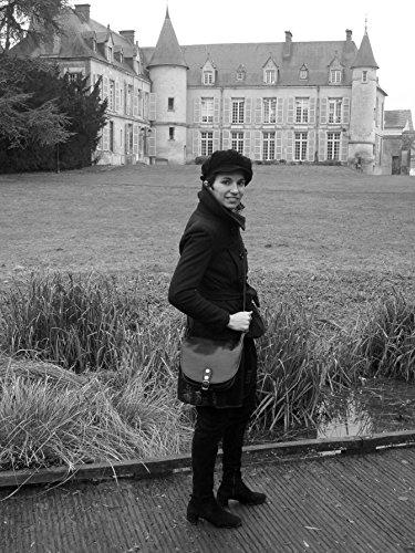 Verlaine femme amp;cie Bleu Sac modele Fonce cuir main Modèle petit Panda lisse à Ipqw88d6