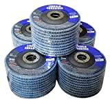 50 Pack Flap Discs 80 Grit 4.5'' x 7/8'' Sanding Wheels