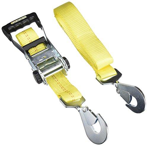 SmartStraps Ratchet Straps - 8ft YW RatchetX w Snap Hooks - Strap Snap Hook