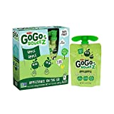 GoGo squeeZ Applesauce on the Go, Apple Apple, 3.2 Ounce Portable BPA-Free Pouches, Gluten-Free, 4 Total Pouches